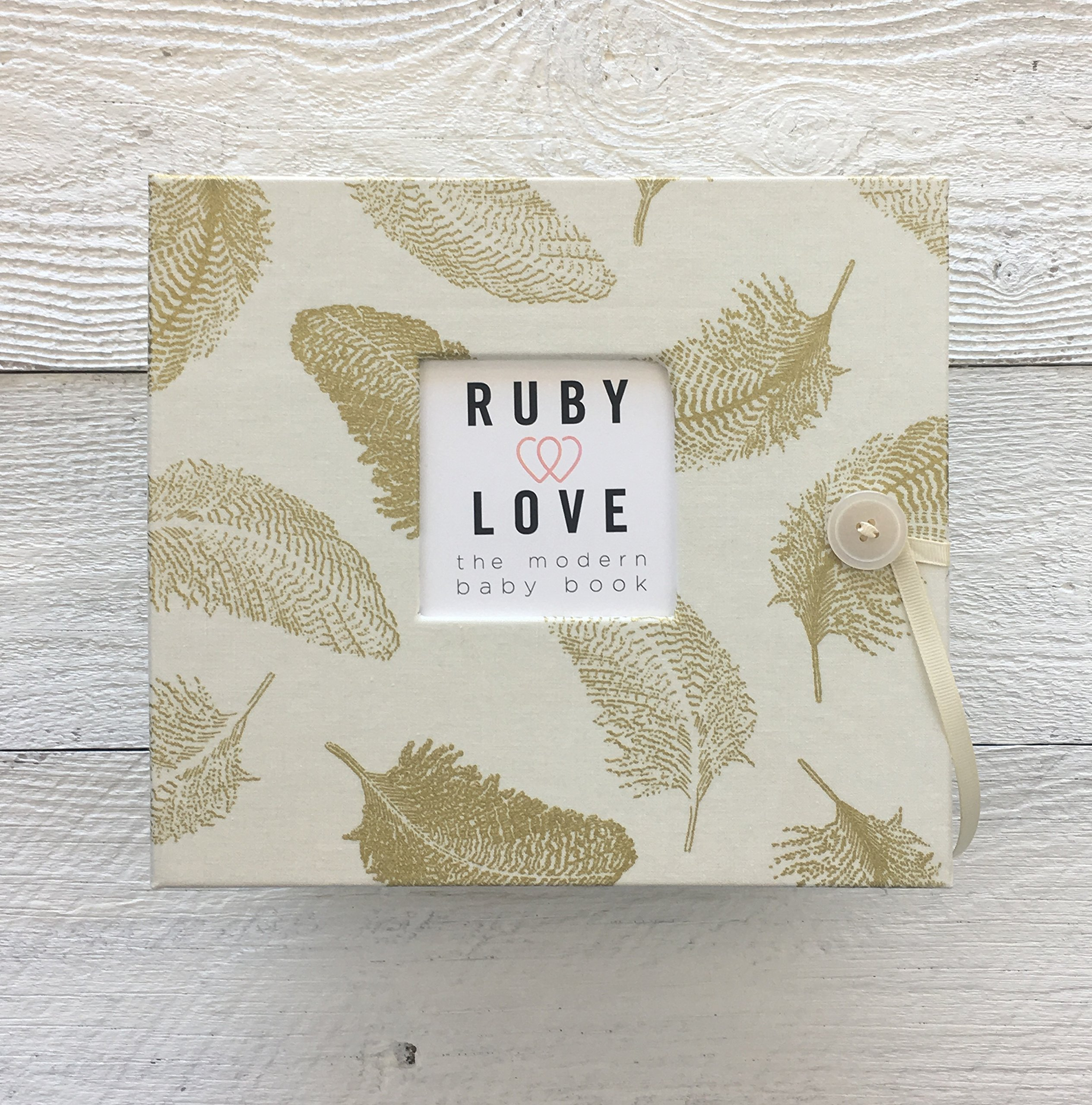 Golden Feathers Baby Memory Book - 1st Year Baby Book