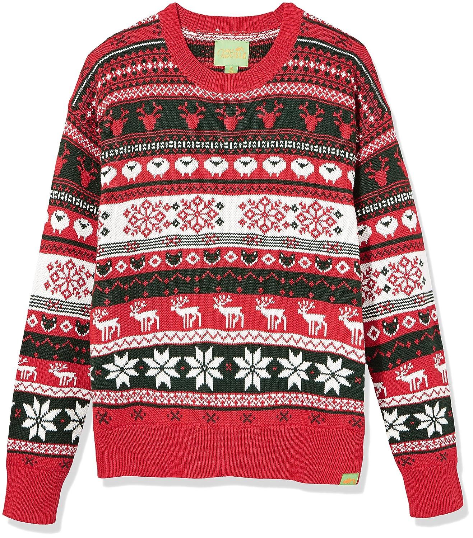 Amazon.com: Ugly Fair Isle Unisex Jacquard Crewneck Christmas ...