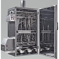 Räucherofen Edelstahl silber groß Smoking Oven Garten ✔ eckig ✔ Grillen mit Elektrogrill