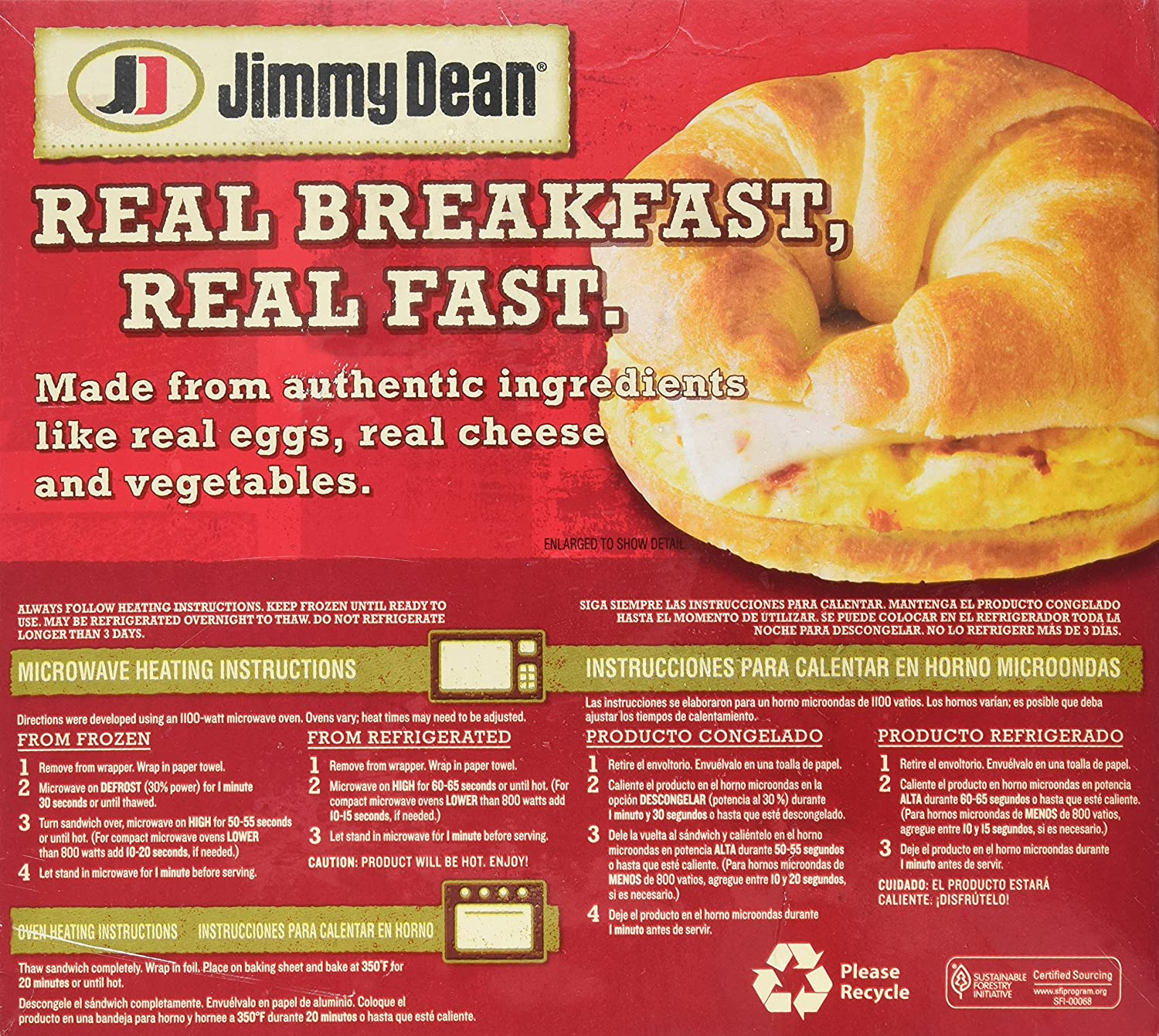 Jimmy Dean, Croissant Egg with Red Peppers, Onions and Pepper Jack Cheese, 4 ct (frozen): Amazon.com: Grocery & Gourmet Food