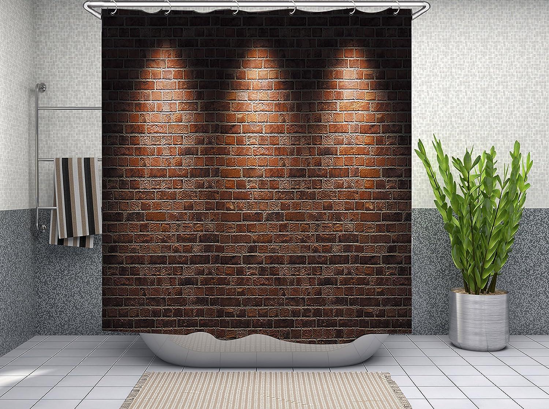 Dauphin du monde marin Furnily 3D Rideau de douche Vif Polyester /Étanche Moule Rideau 180 x 180 cm Salle de bain