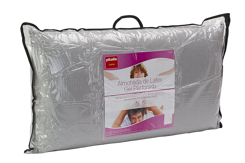 Pikolin Home Almohada de látex natural perforada, con gel refrescante, 40x70cm, altura 14cm (Todas las medidas)