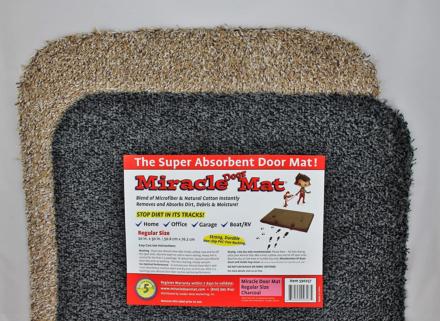 Amazon.com Golden West Marketing Miracle Door Mat (20\ x30\  Tan) Sports \u0026 Outdoors  sc 1 st  Amazon.com & Amazon.com: Golden West Marketing Miracle Door Mat (20\