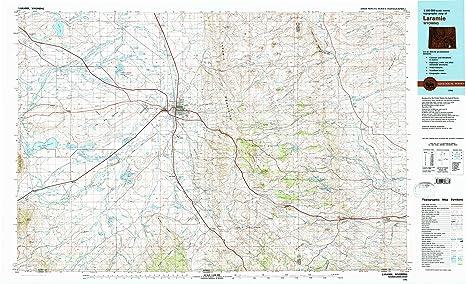 Amazon Com Yellowmaps Laramie Wy Topo Map 1 100000 Scale 30 X 60