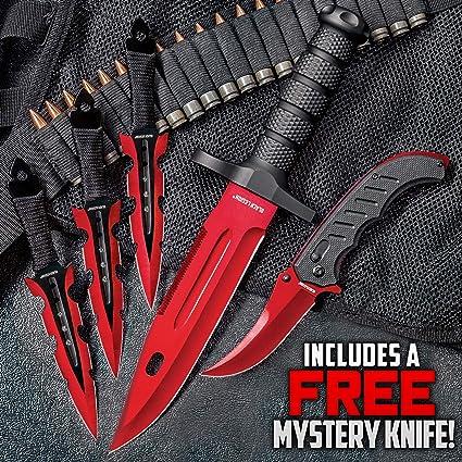 Amazon.com: Black Legion Juego de cuchillos de porcelana ...