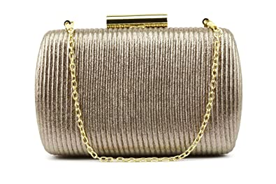 5ec963bfca1 Ruiatoo Women Clutches Luxury Evening Bag for Wedding With Detachable Chain  Brown
