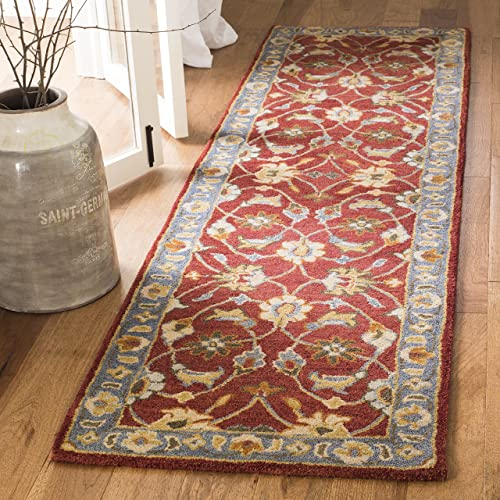 Safavieh Heritage Collection HG403A Traditional Red and Blue Runner 2 3 x 6