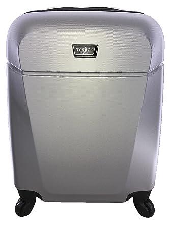Maleta Equipaje de mano cabina rígida ligera con 4 ruedas, 55cm, TERRAE, color, Silver SL0942: Amazon.es: Equipaje
