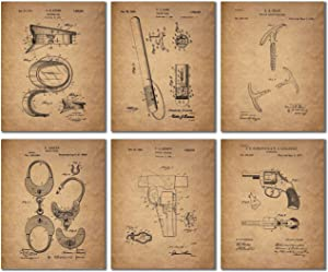 Police Patent Wall Art Prints - Set of 6 Vintage Photos