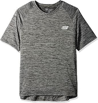 Skechers Mens 1609 Space Dye Tee Short Sleeve T-Shirt