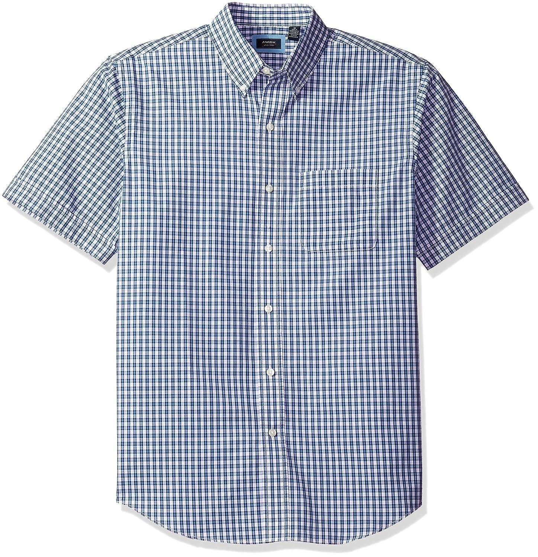 Arrow Men's Hamilton Plaid Short Sleeve Shirt at Amazon Men's ...