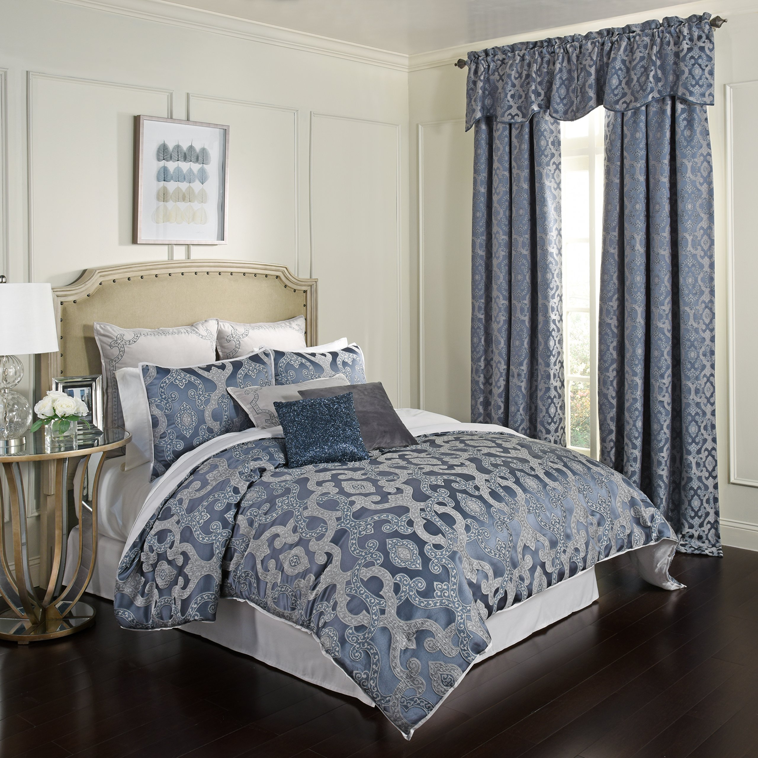 Beautyrest 17034BEDDKNGLAP Normandy Comforter Set, King, Lapis