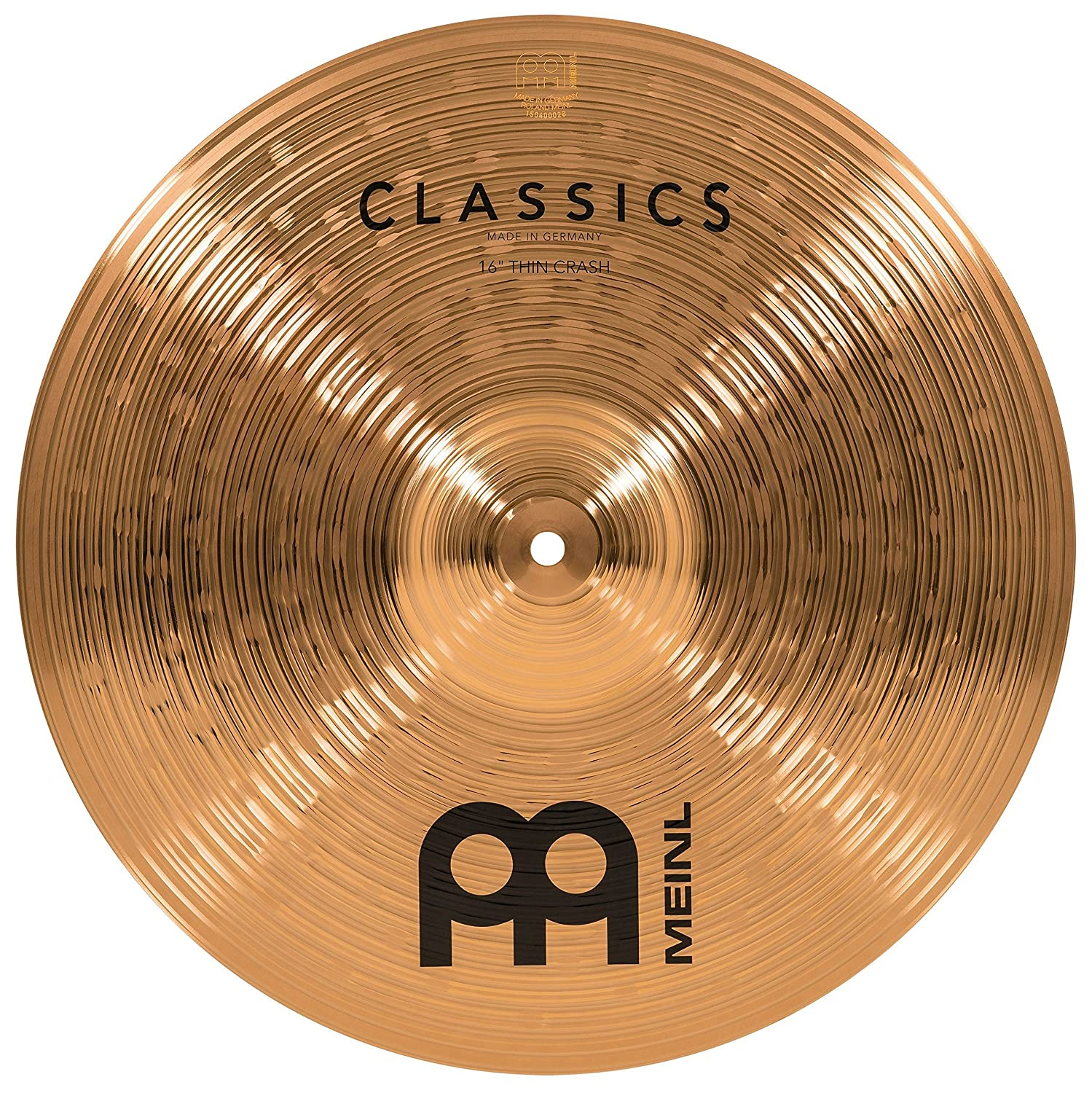 Meinl 16 Thin Crash Cymbal C16TC Classics Traditional 2-YEAR WARRANTY Made in Germany
