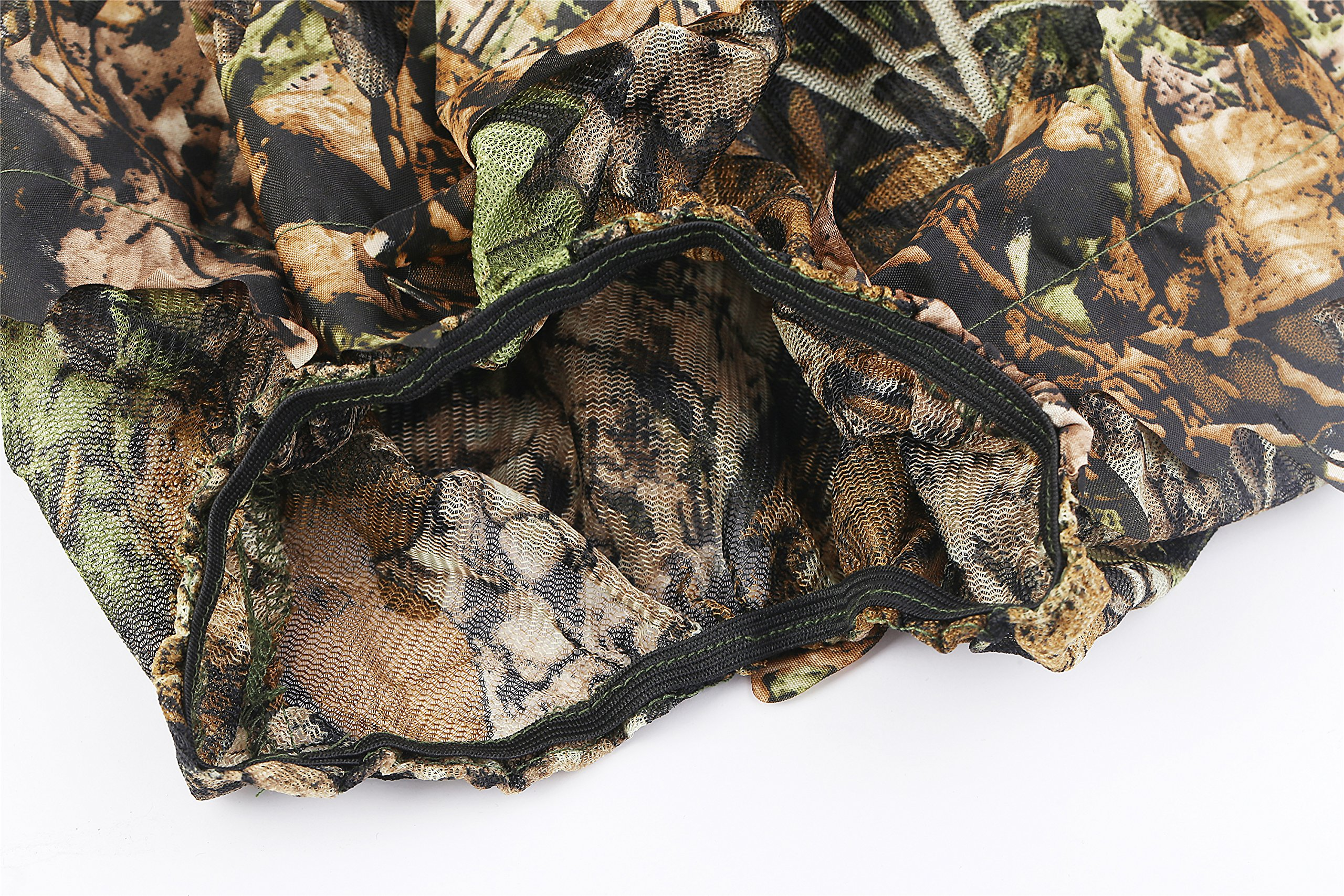 ABCAMO Light Weight Hunting Camouflage Full Cover 3D Leafy Face Mask by ABCAMO (Image #5)