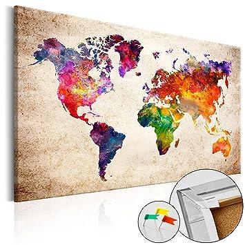 pinnwand weltkarte murando Weltkarte Pinnwand 120x80 cm Bilder mit Kork Rückwand 1  pinnwand weltkarte