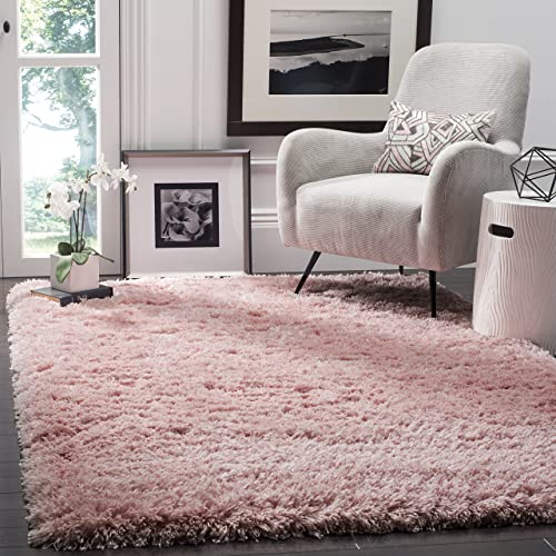 Safavieh Polar Shag Collection PSG800P Light Pink Area Rug, 3 x 5
