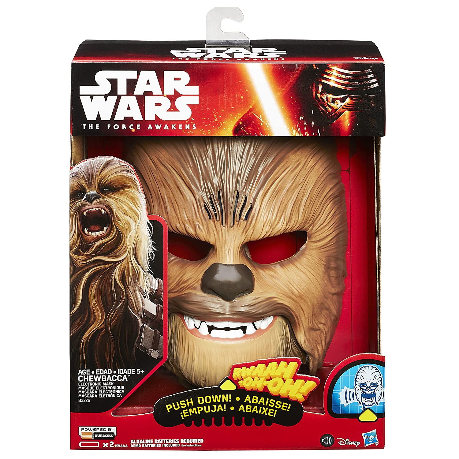 Star Wars The Force Awakens Chewbacca Electronic Mask by Hasbro: Amazon.es: Juguetes y juegos