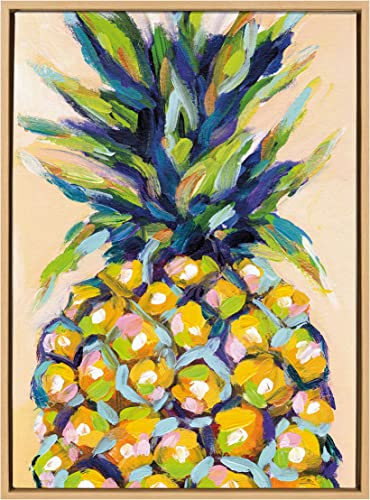 Kate and Laurel Sylvie Pineapple Study No 2 Framed Canvas Wall Art