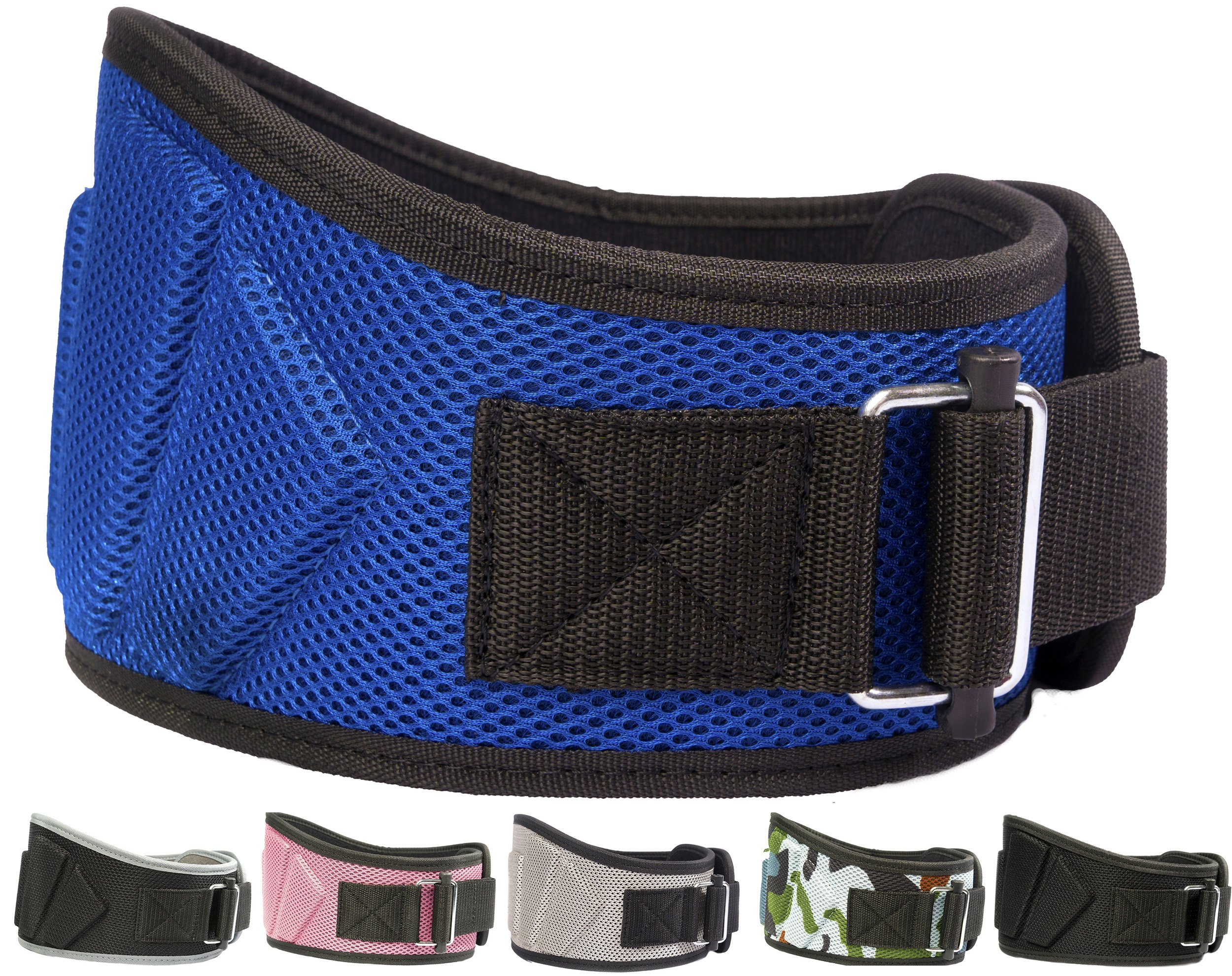 Fire Team Fit Weight Lifting Belt, Weight Belt, Lifting Belt, Weightlifting Belt, Weightlifting Belts (Blue, 27'' - 32'' Around Navel, X-Small)