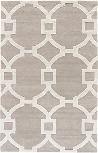 Jaipur Living Regency Hand-Tufted Trellis Gray Silver Area Rug 8 X 11