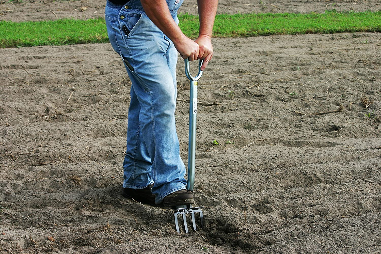 Hoss Tools Garden Digging Fork | Heavy-Duty, Unbreakable Design