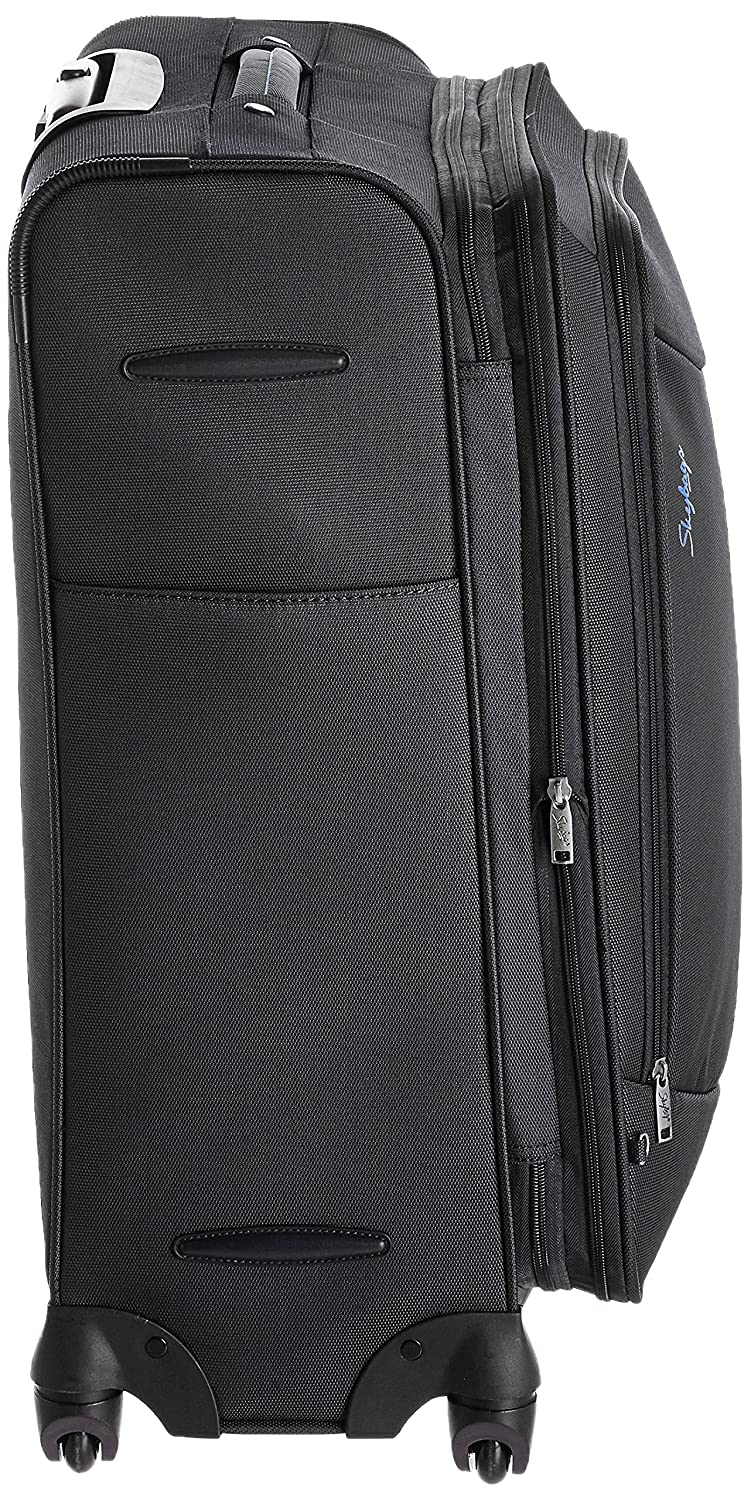 9a7e13902 Skybags Murphy Polyester 78 cms Black Suitcase (STMURW78BLK): Amazon.in:  Bags, Wallets & Luggage