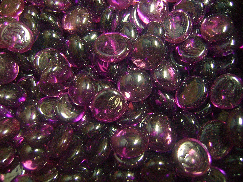 Creative Stuff Glass - 2 LB Purple Amethyst - Glass Gems - Vase Fillers