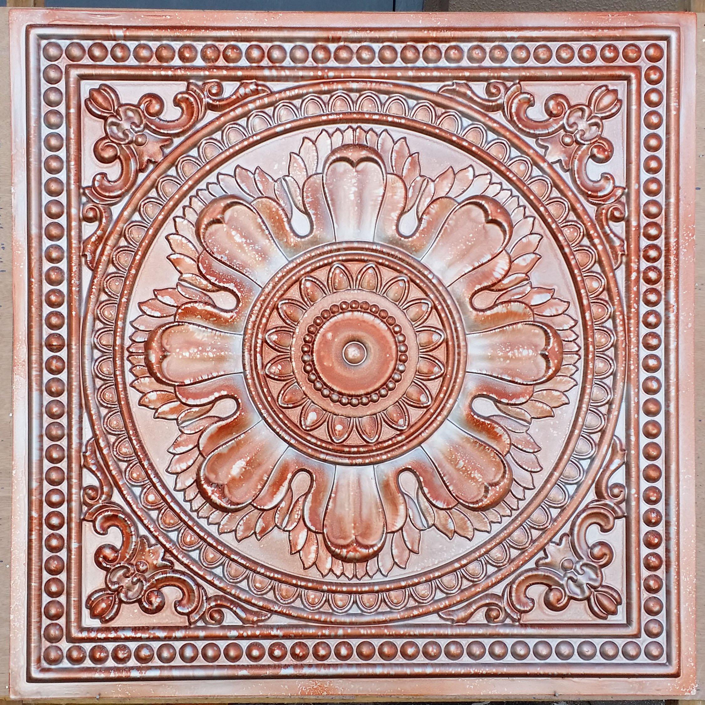 Tin Ceiling Tiles Mix Copper Silver Coffee Pub hotel Decor ceiling Panels PL17 10pcs/lot