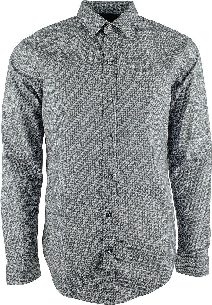 Hugo Boss Robbie Sharp Fit Camisa de Manga Larga para Hombre - Gris - Small: Amazon.es: Ropa y accesorios
