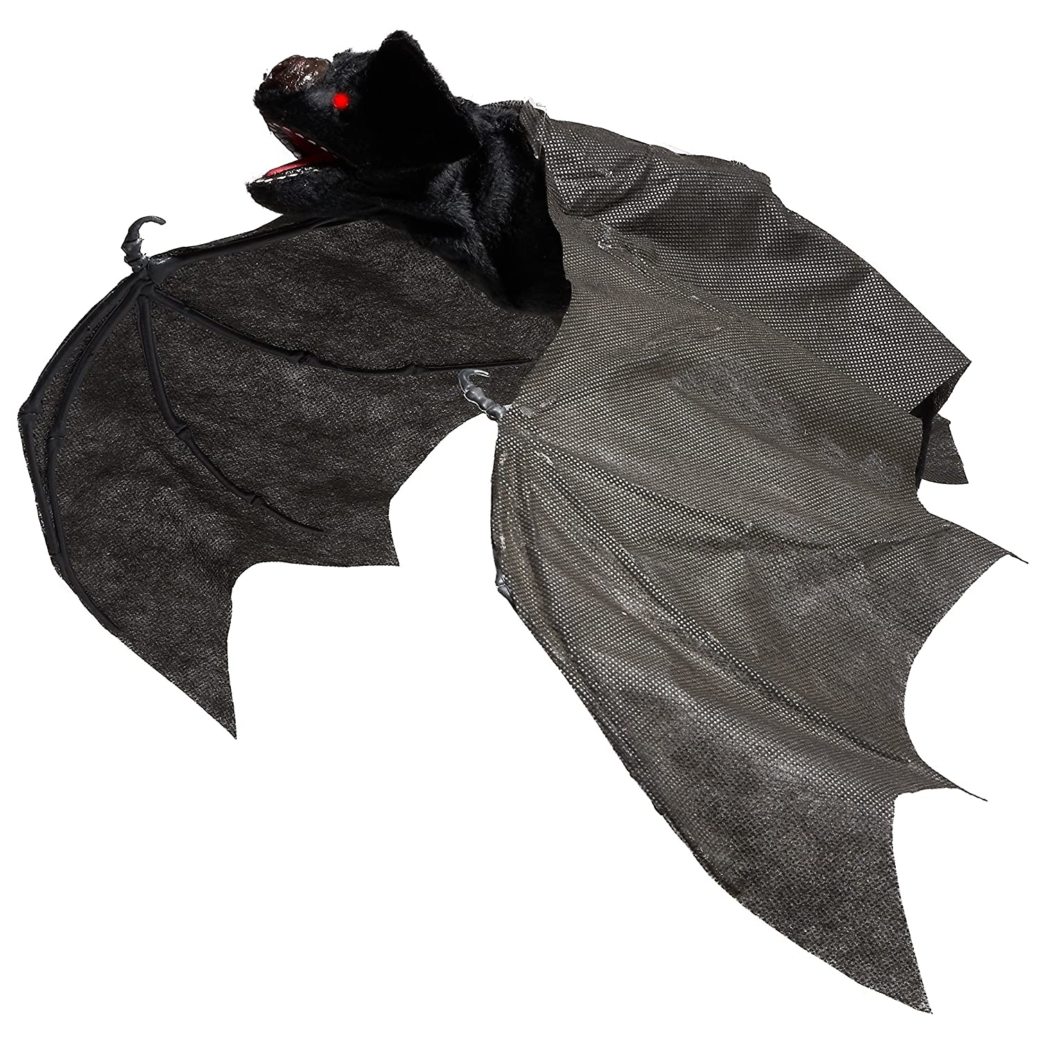 amazoncom prextex giant 30 animated hanging bat 30 wing span halloween decoration with maniacal laugh and screams built in motion sensor that detects - Animated Halloween Decorations