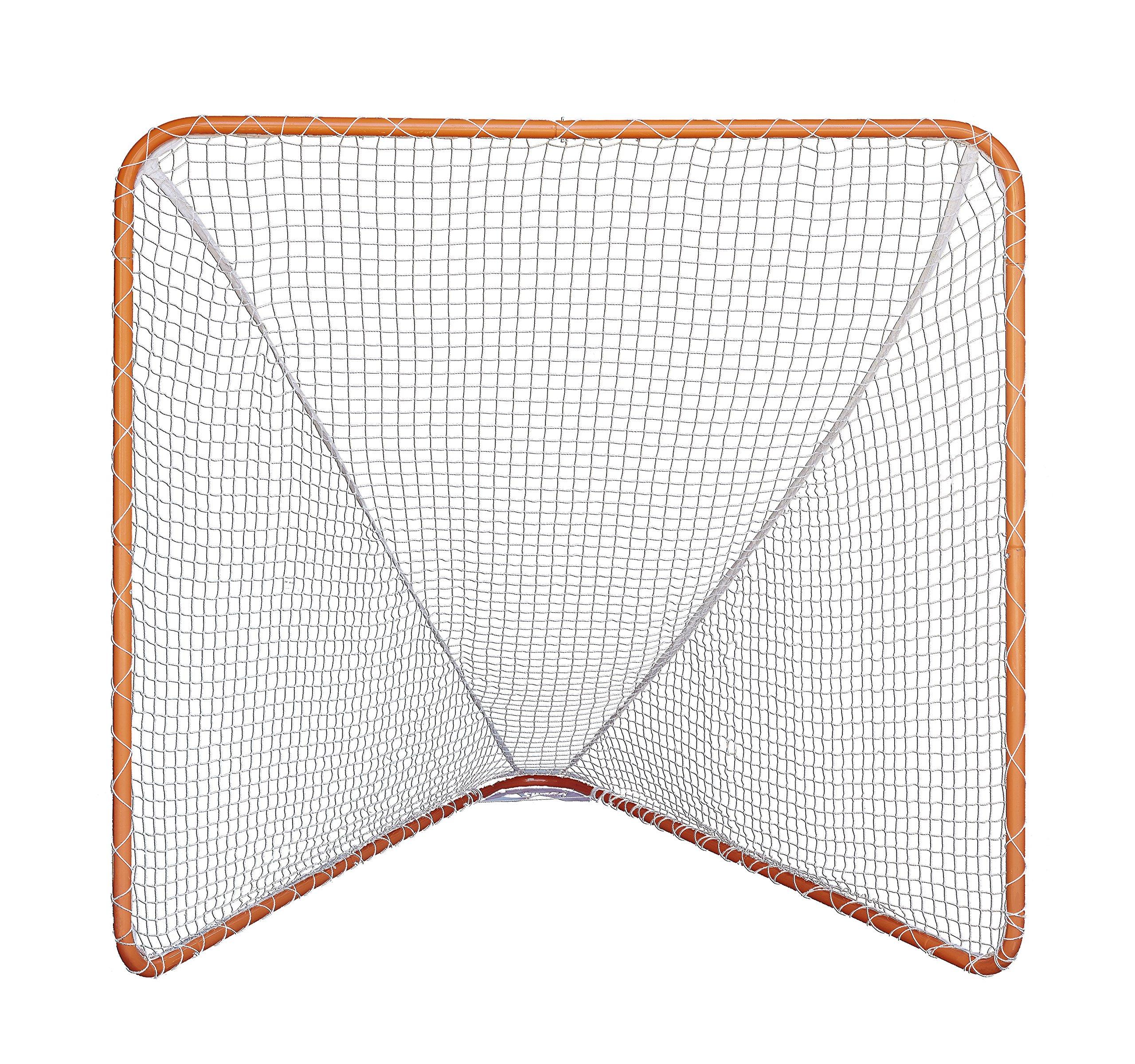 SWAGA Lacrosse Goal with Net - Orange 100% Steel Frame - 6 x 6 Foot