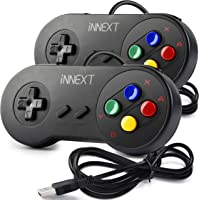 2 Pack iNNEXT SNES Retro USB Controller Gamepad Joystick, USB PC Super Classic Controller Joypad Gamestick for Windows…