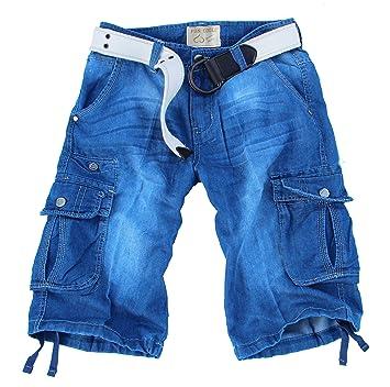 Fun Coolo Pantalón corto Hombre Jeans Cortos Bermuda Cargo ...