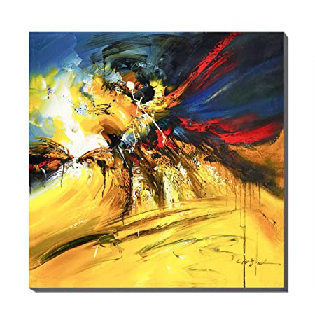 WESIATOR- 30X30Inch Abstract Wall Art Paintings Printed on Canvas ...