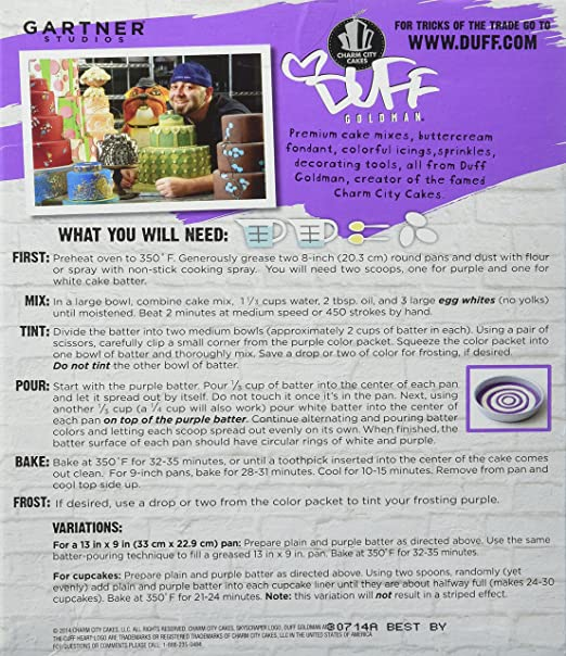 Duff Decorating Mix Cake Purple Rain (2 Pack)