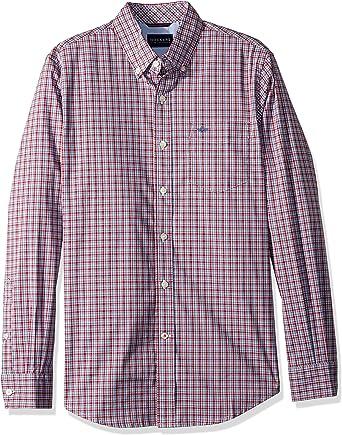 dockers Signature Comfort Flex Shirt Camisa, Natoma Scarlet Legacy, S para Hombre: Amazon.es: Ropa y accesorios