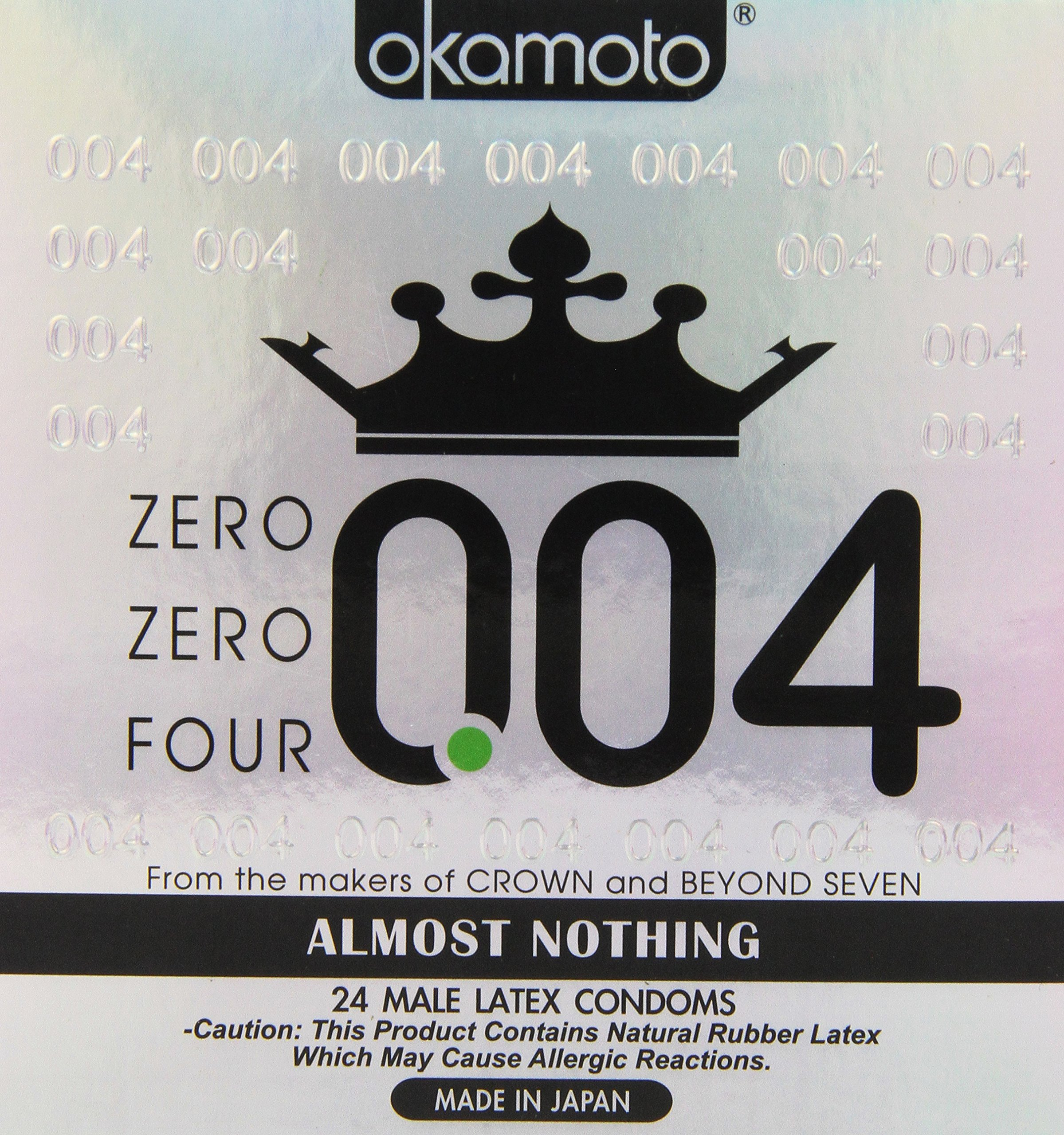 Okamoto 0.04 mm Zero Zero Four Condoms 24 pack