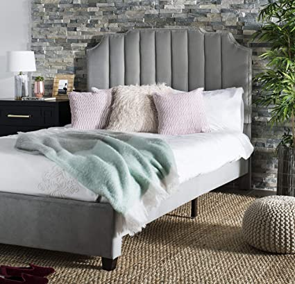 0099f496c274b6 Amazon.com: Safavieh BED6300C-Q Streep Bed, Queen, Grey: Kitchen & Dining