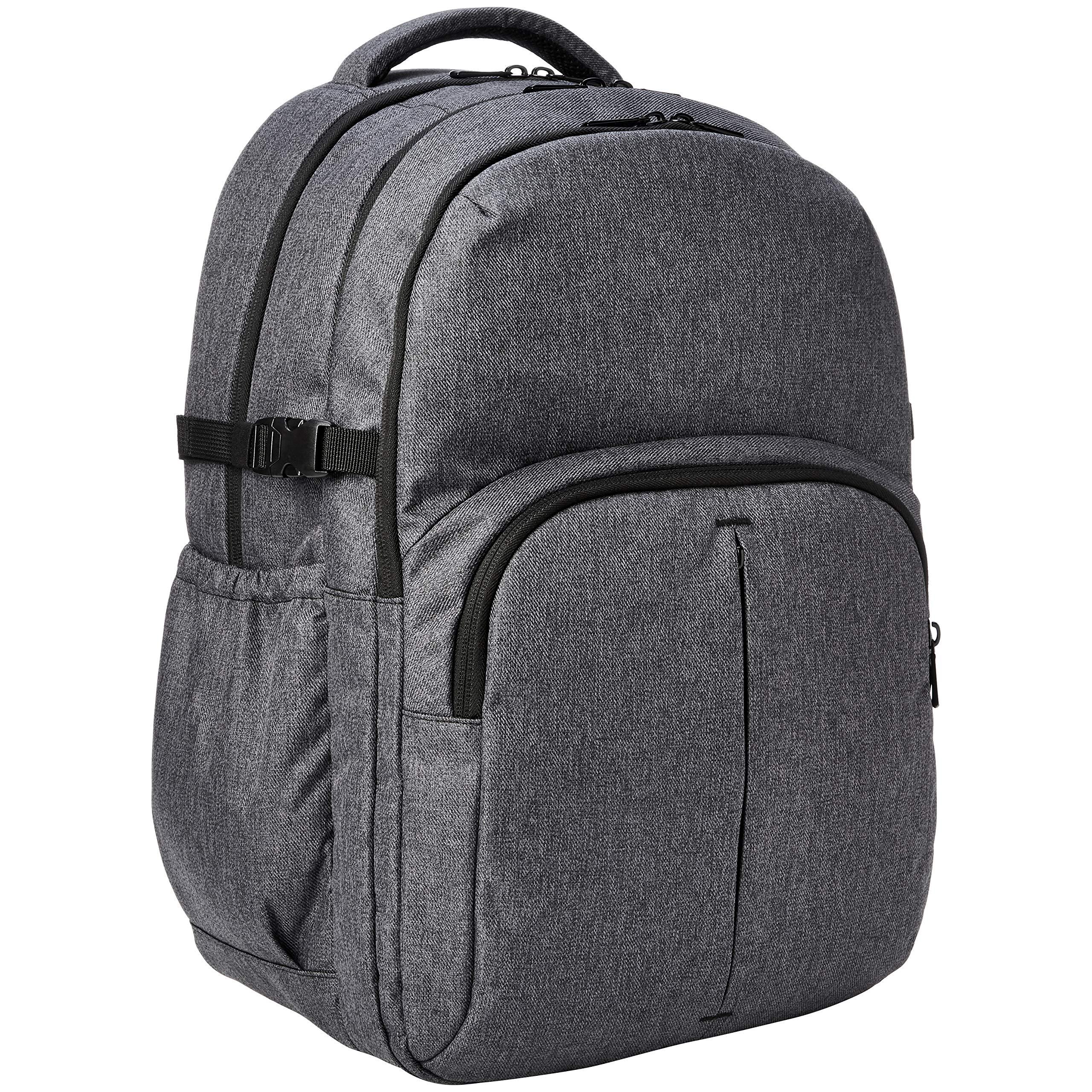 AmazonBasics Urban Laptop Backpack, 15 Inch Notebook Computer Sleeve, Grey