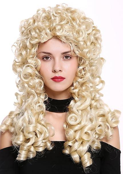 WIG ME UP ® - B17-2P-B-613 peluca de mujer hombre Barroco ...