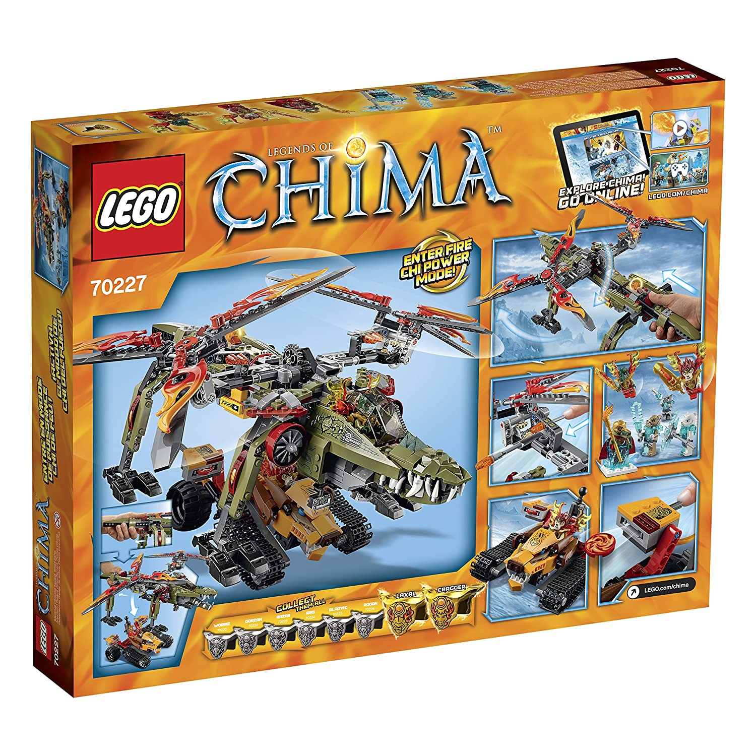 Amazon chima party supplies - Amazon Com Lego Legends Of Chima 70227 King Crominus Rescue Building Kit Toys Games