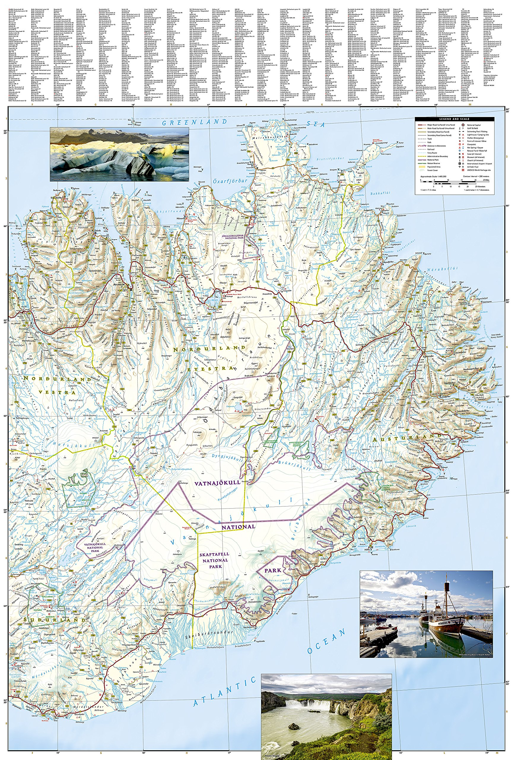 Iceland National Geographic Adventure Map National Geographic