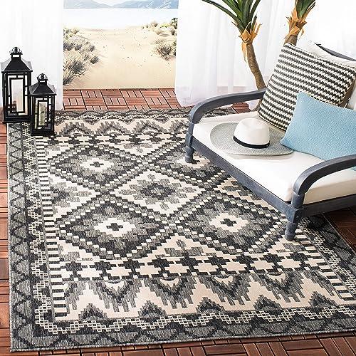 Safavieh Veranda Collection VER096-3435 Grey and Beige 9 x 12 Area Rug
