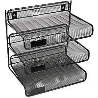 Rolodex Mesh Collection 3-Tier Desk Shelf (Black)