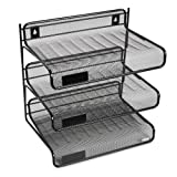 Amazon Price History for:Rolodex Mesh Collection 3-Tier Desk Shelf, Letter-Size, Black (22341)