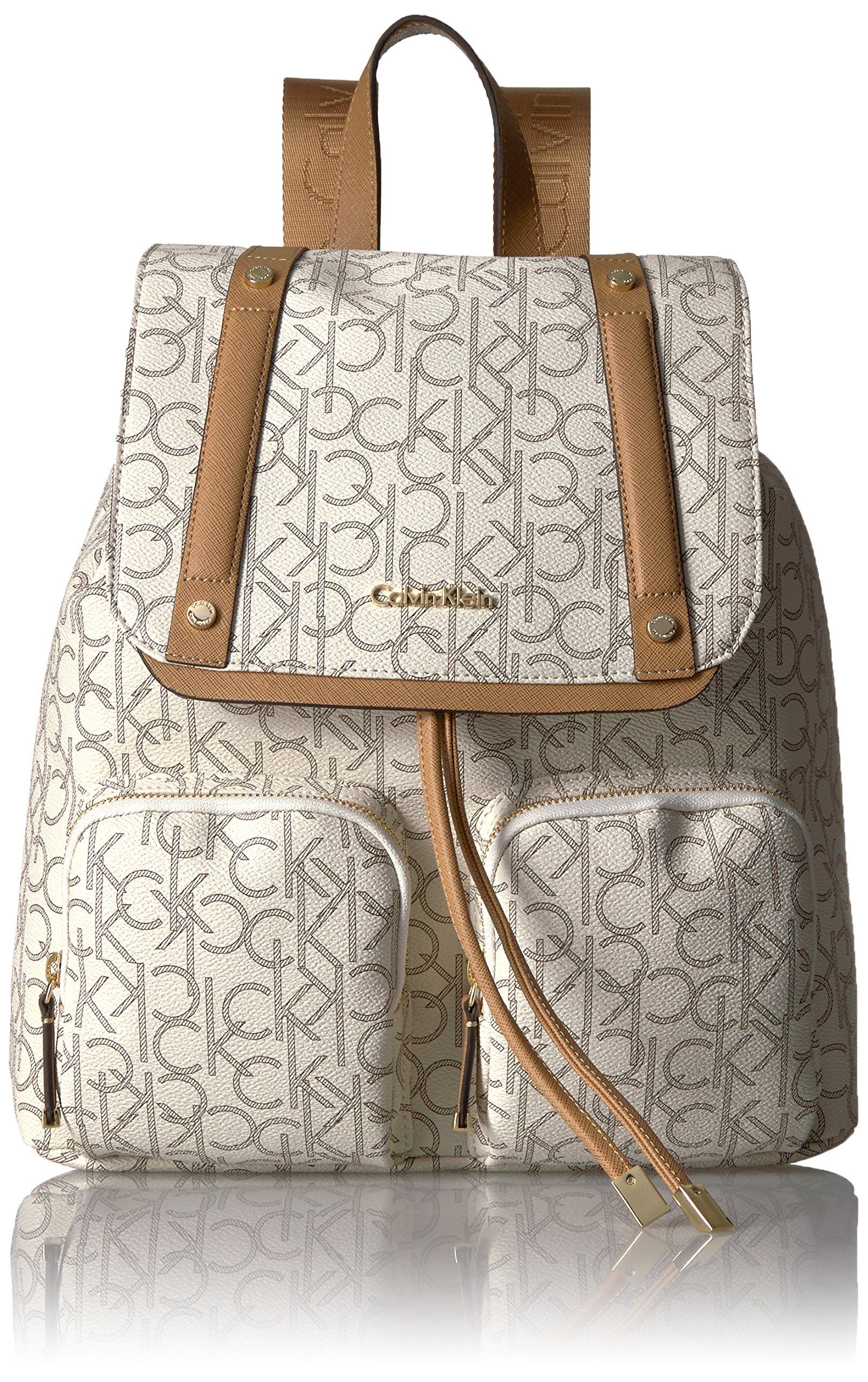 Calvin Klein Teodora Monogram Flap Backpack