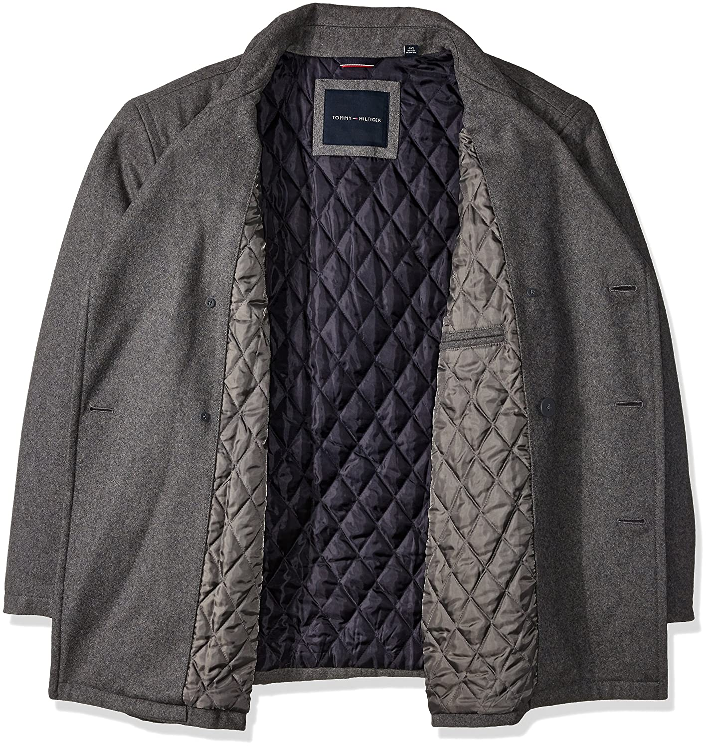 Tommy Hilfiger Mens Big Wool Melton Classic Peacoat