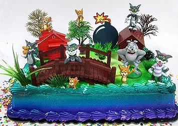 Remarkable Cake Toppers Tom And Jerry Birthday Set Featuring Tom And Jerry Personalised Birthday Cards Veneteletsinfo