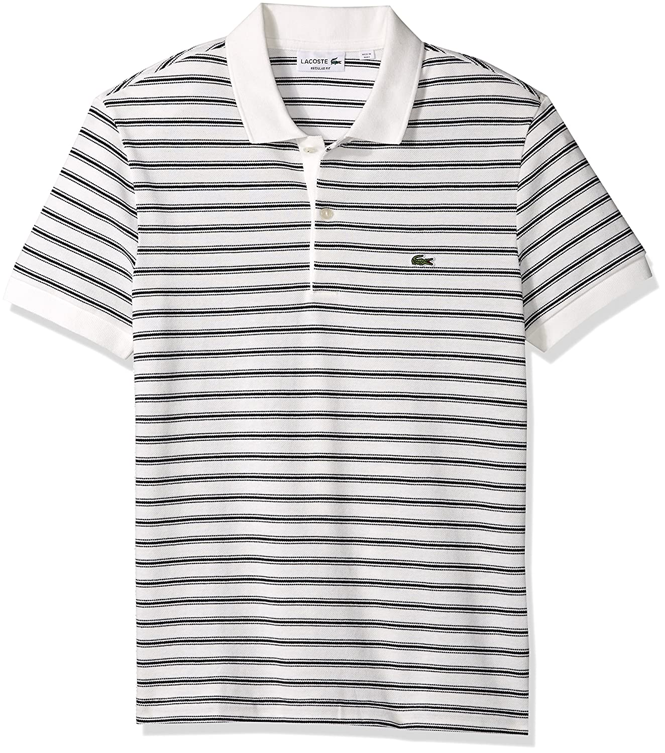Lacoste Mens Standard Men's Regular Fit Striped Cotton Petit Pique Polo PH7109-51