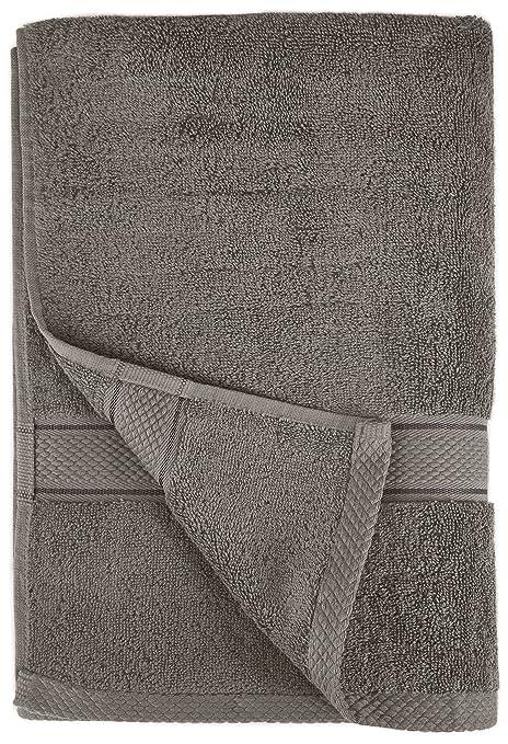 Pinzon by Amazon - Juego de toallas de algodón egipcio (2 toallas de baño), color gris: Amazon.es: Hogar
